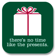 Present Sticker: There's no time like the presents:Roberts Event Group: Holiday Party: Holiday Party Planning