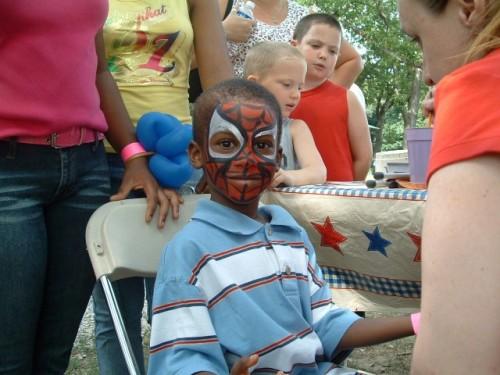 Face Painted: Sisters City Park Renovation: Face Painter: Entertainment: Park Face Painter: Philadelphia Face Painter