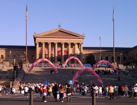 Susan G. Komen Race for the Cure: Philadelphia Event: Cure Cancer: Roberts Event Group: Philadelphia Museum of Art: Fight Breast Cancer: Fundraiser