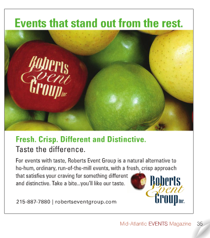 Mid-Atlantic Events Magazine: Mid-Atlantic Events Magazine Cover: Roberts Event Group Published in Mid-Atlantic Events Magazine: Events Magazine: September/October 2012 Mid-Atlantic Events Magazine: Roberts Event Group Article: Roberts Event Group Published: Event Planning Article: Roberts Event Group Advertisement: Roberts event Group Event Planning: Best Event Planner