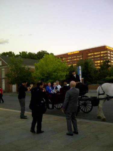 ASIS 58th Annual Seminar and Exhibits: ASIS Event: ASIS Entrance: ASIS President: ASIS President Arrival: Horse Drawn Carriages