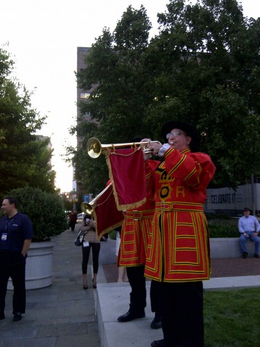 ASIS Enterance: ASIS 58th Annual Seminar and Exhibits: ASIS Event: Trumpet announcers: Trumpet Entrance: Interactive Entertainers: Trumpet Fanfare: