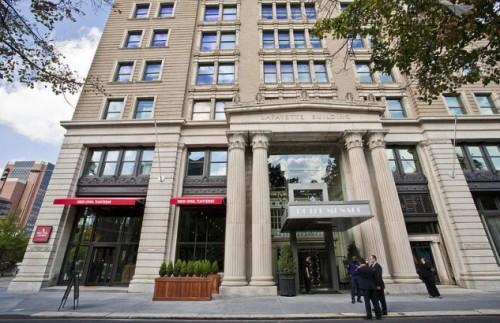 Hotel Monaco Front Door: Hotel Monaco: Hotel Monaco Philadelphia:New Hotel Philadelphia: Philadelphia Hotel: Kimpton Hotel