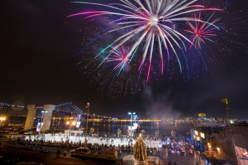 New Years: Fireworks: Venue: Outdoor Venue: Penn's Landing: Philadelphia: Sparkle