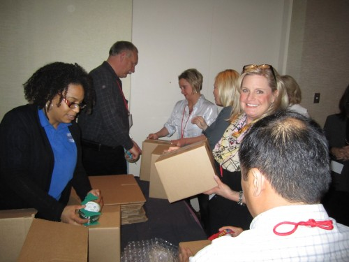 Liberty USO: Corporate group: Team buildings:Boxes: Care packages