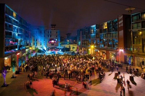 The piazza; northern liberties; Philadelphia; outdoor spaces: Philadelphia Outdoor Venue: Roberts Event Group